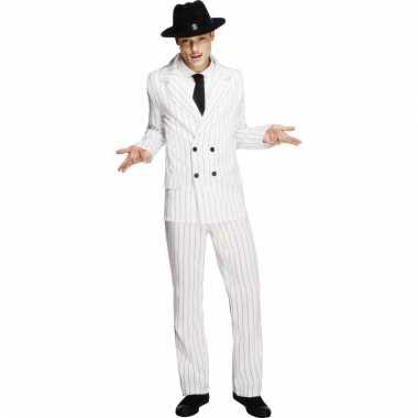 Gangster verkleedkleding wit