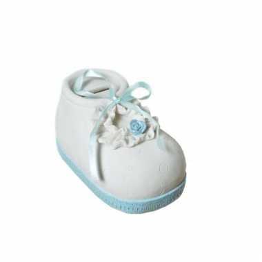 Geboorte jongen kado spaarpot babyschoen