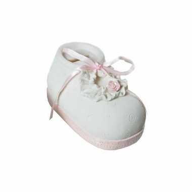 Geboorte meisje kado spaarpot babyschoen