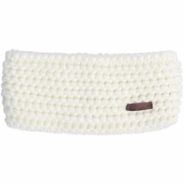 Gebreidde hoofdband wit voor dames