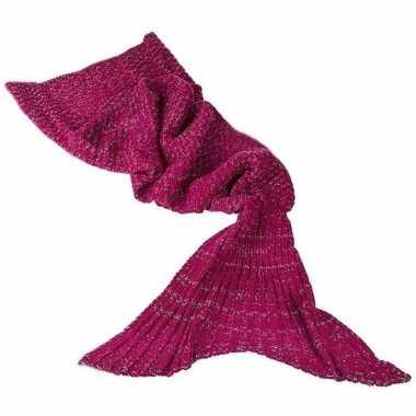 Gebreide zeemeerminnen vin rood 180 cm