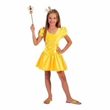 Geel fee jurkje voor meisjes