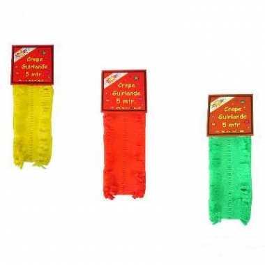 Geel groen rode feest slingers