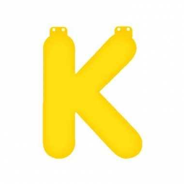 Geel opblaasbare letter k