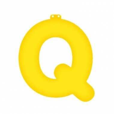 Geel opblaasbare letter q