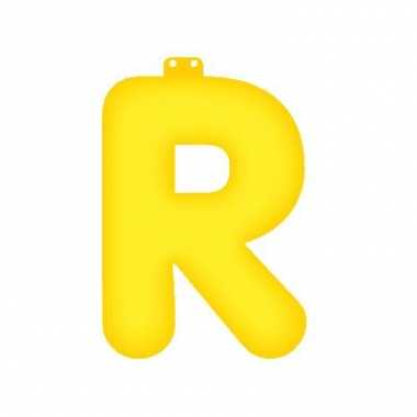 Geel opblaasbare letter r