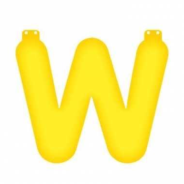 Geel opblaasbare letter w