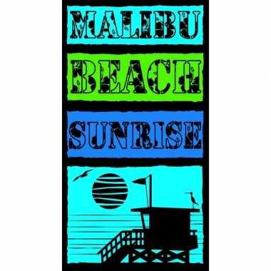 Gekleurd strandlaken malibu beach 95/100 x 175