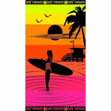 Gekleurd strandlaken paradise sunset 95/100 x 175