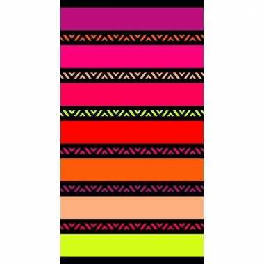 Gekleurd strandlaken twisty chic 95/100 x 175