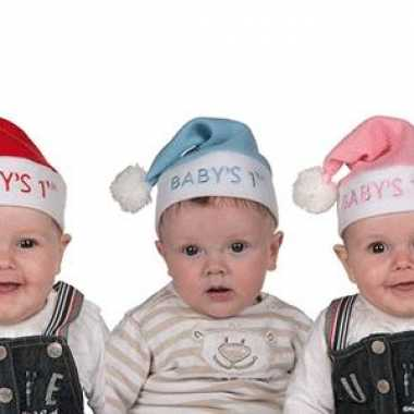 Gekleurde baby kerstmutsen