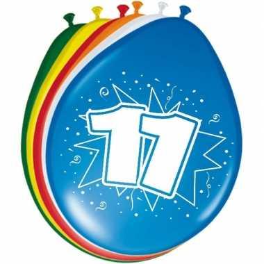 Gekleurde ballonnen 11 jaar