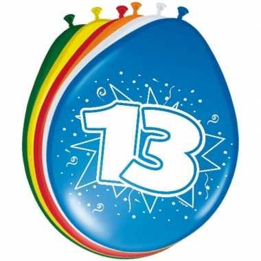 Gekleurde ballonnen 13 jaar 30 cm