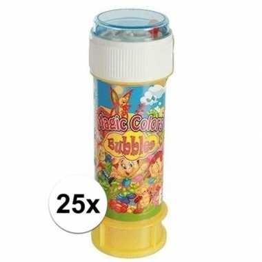 Gekleurde bellenblaas met spel 25 stuks