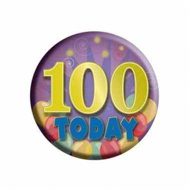 Gekleurde button 100 jaar