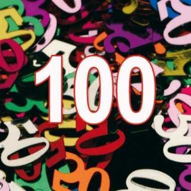 Gekleurde condetti 100