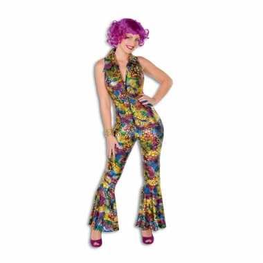 Gekleurde disco verkleedkleding voor dames