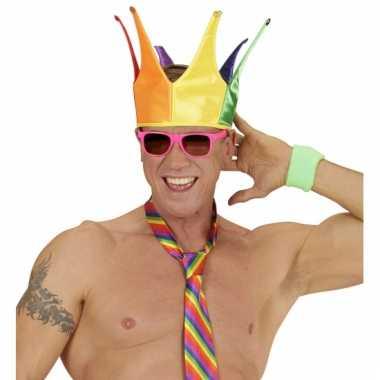 Gekleurde kroon voor volwassenen