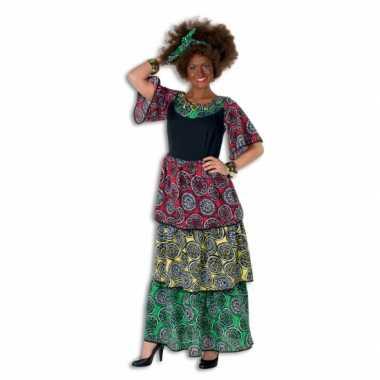Gekleurde lange jurk voor vrouwen