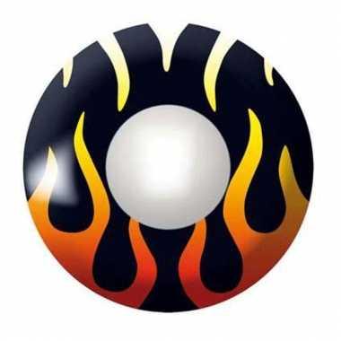 Gekleurde lenzen met vlammen