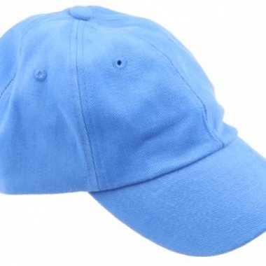 Gekleurde lichtblauwe baseballcaps