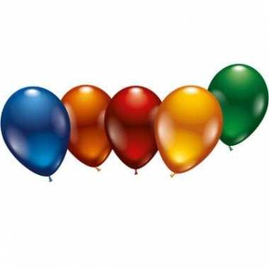 Gekleurde metallic ballonnen 8x