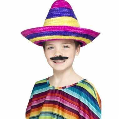 Gekleurde mexicaanse sombrero kind