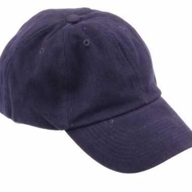 Gekleurde navy blauwe baseballcaps