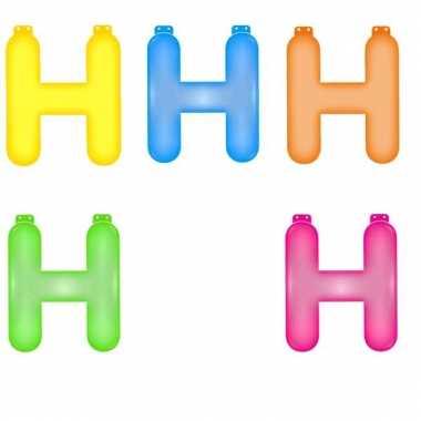 Gekleurde opblaas letters h