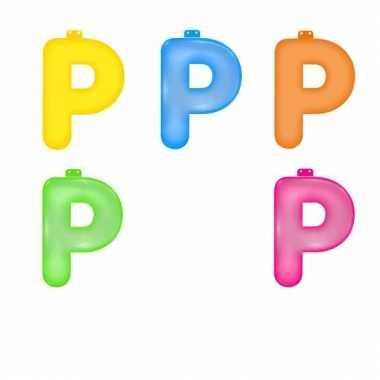Gekleurde opblaas letters p
