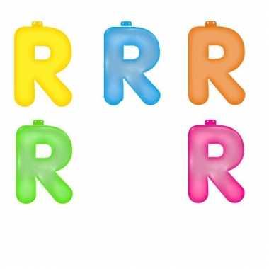 Gekleurde opblaas letters r