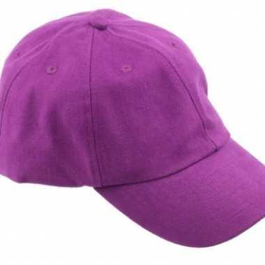 Gekleurde paarse baseballcaps