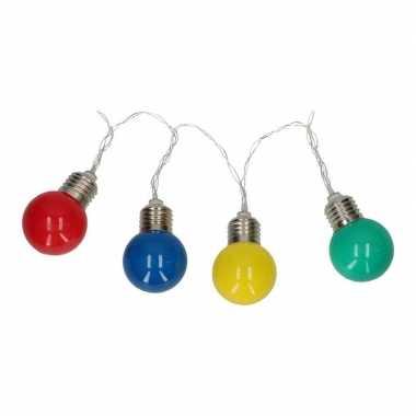 Gekleurde peertjes led lichtsnoer op batterij 165 cm