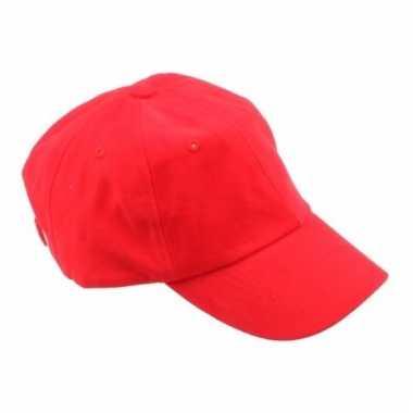 Gekleurde rode baseballcaps