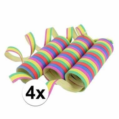 Gekleurde serpentines 12 rollen