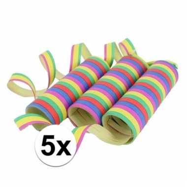Gekleurde serpentines 15 rollen