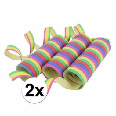 Gekleurde serpentines 6 rollen