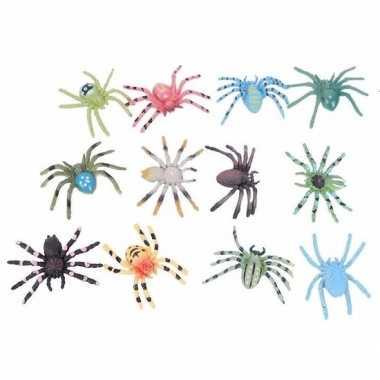 Gekleurde spinnetjes 24 stuks 4 cm