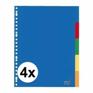 Gekleurde tabbladen a4 met 20 tabs