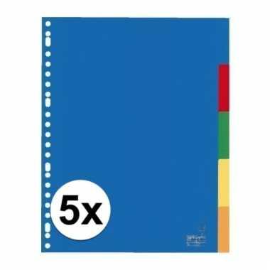 Gekleurde tabbladen a4 met 25 tabs