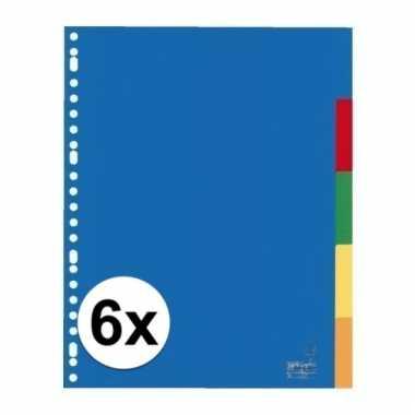 Gekleurde tabbladen a4 met 30 tabs