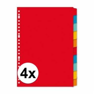 Gekleurde tabbladen a4 met 40 tabs
