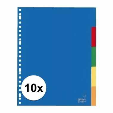 Gekleurde tabbladen a4 met 50 tabs