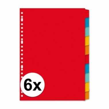 Gekleurde tabbladen a4 met 60 tabs