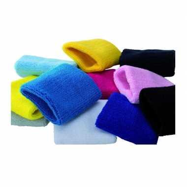 Gekleurde zweetbandjes / polszweetbandjes 8 cm