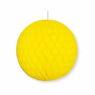 Gele decoratie bal 10 cm