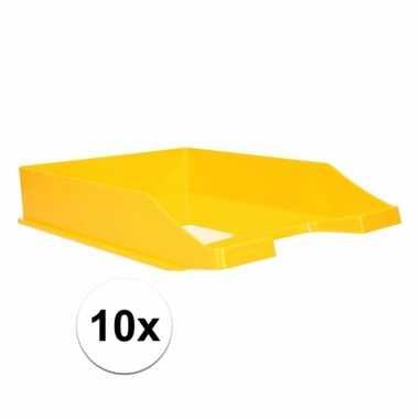 Gele documentenbak a4 10 stuks