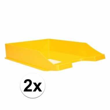 Gele documentenbak a4 2 stuks