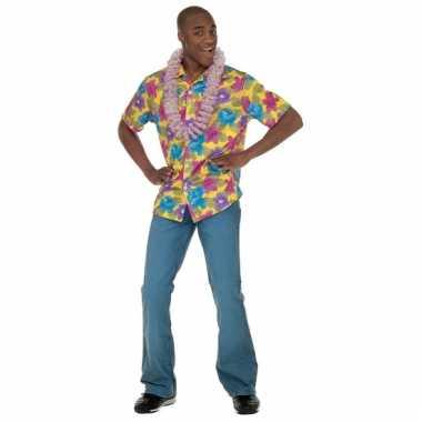 Gele hawaii blouse voor heren