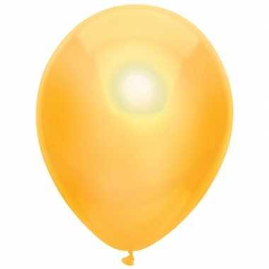 Gele metallic ballonnen 30 cm 10 stuks